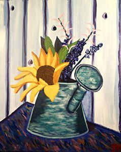 Watering Can Floral - BrilliantColorsbyJen