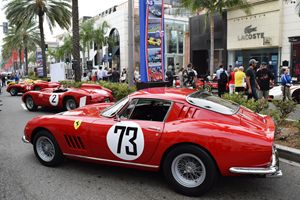 Classic Ferraris on Rodeo Drive
