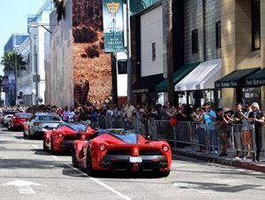 La Ferrari Parade on Rodeo Drive