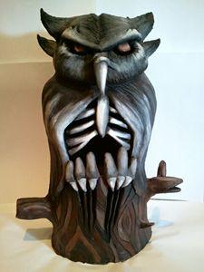 Halloween Inspired Owl Sculpture