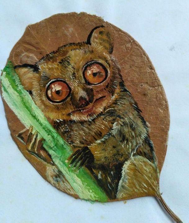 Tarsier on the leaf - Xtra3e Art