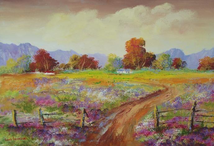 Countryside Cottages - Louis Pretorius art