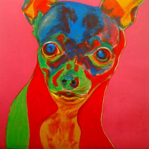 Mad chihuahua - Painting pets by V.MaYaN