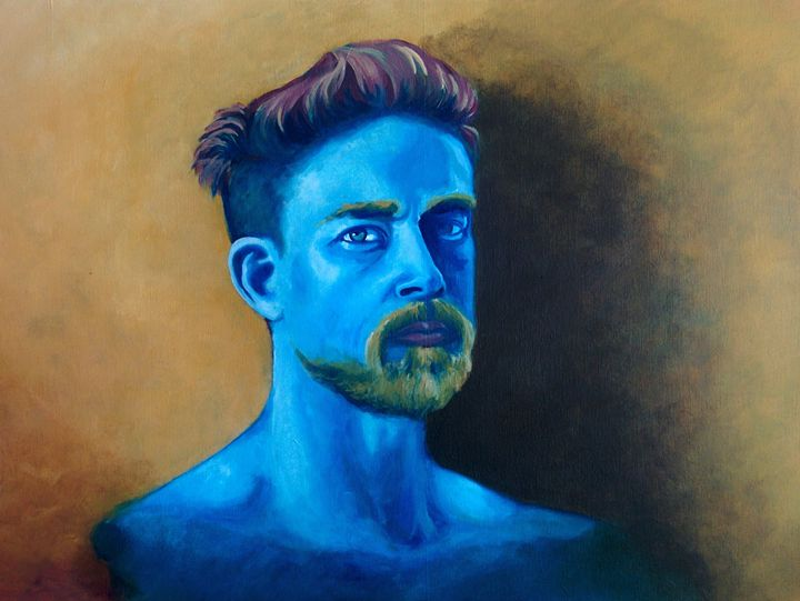 Charlie Hunnam in Blue - Fovart Gallery