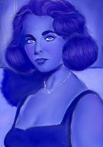 Liz In Blue