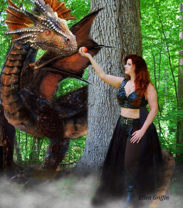Making Friends - Ellen Griffin Fantasy Art