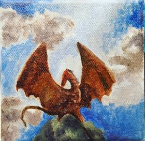 I am Fire - Dragon Oil Painting