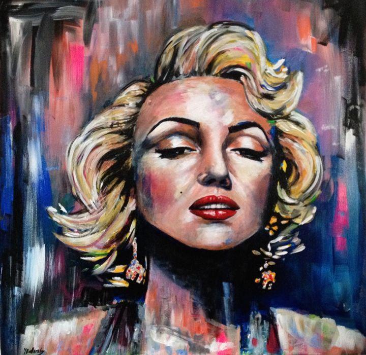 Marilyn Monroe - Colourful World Art - by Yvonne Battersby