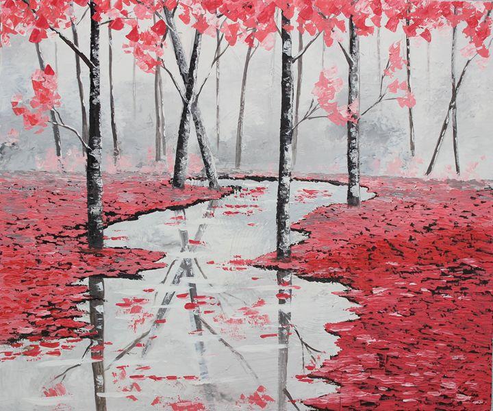 snowing pink 2 - nissa riyas the artist