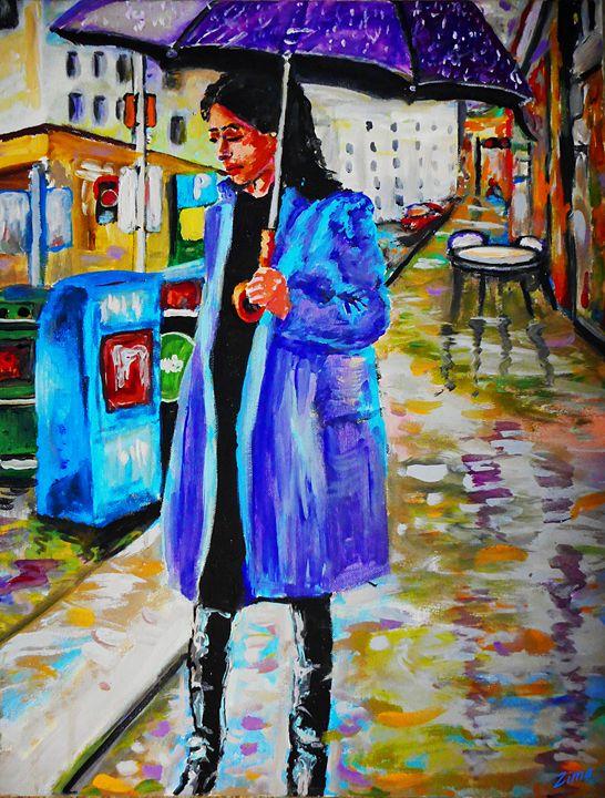 A Girl In The Rain - Zima
