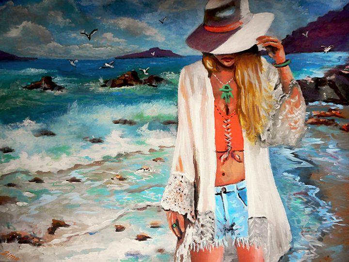 The Girl on the Beach - Zima