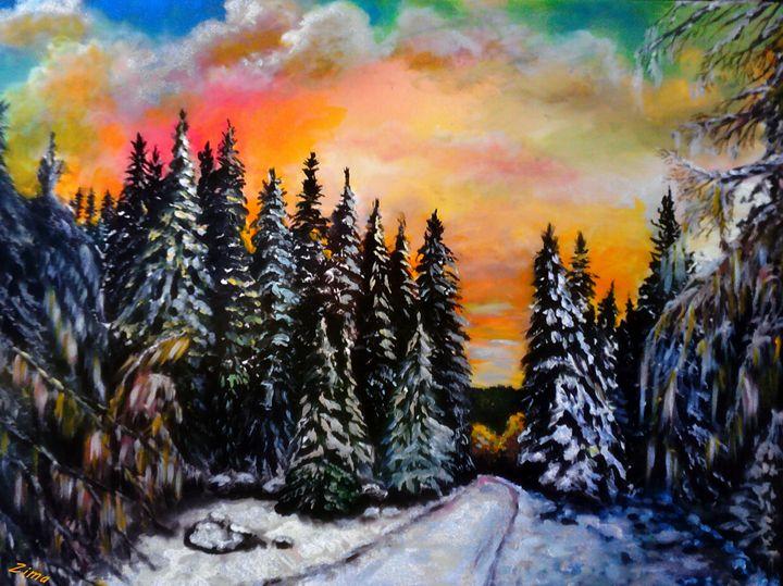 Winter Sunset - Zima