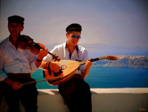 Santorini Musicians - Zima