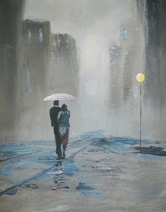 Romantic Walk in the Rain