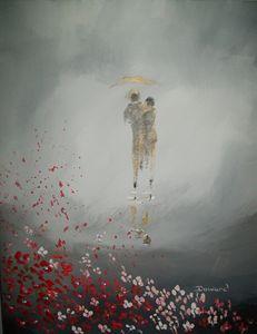 Romantic Foggy Walk