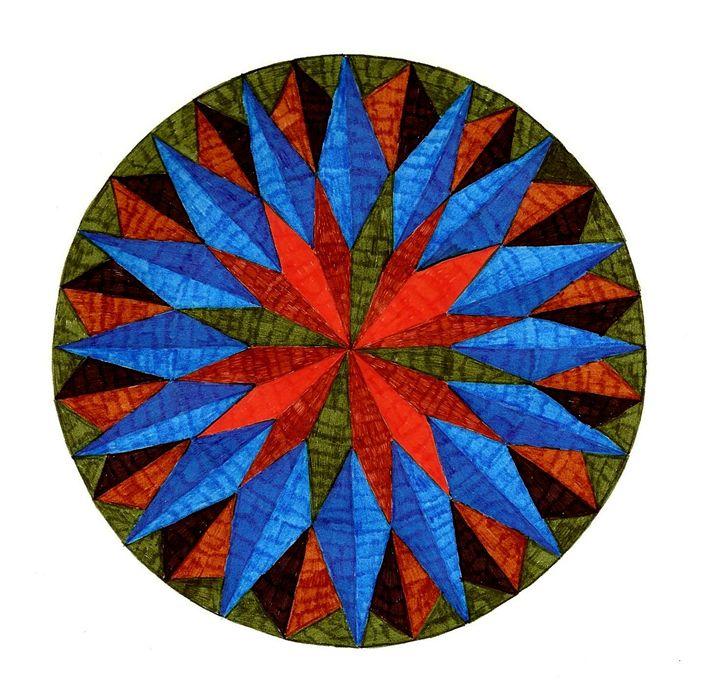 Earth Star Mandala - Earthworks Art Designs and Photography