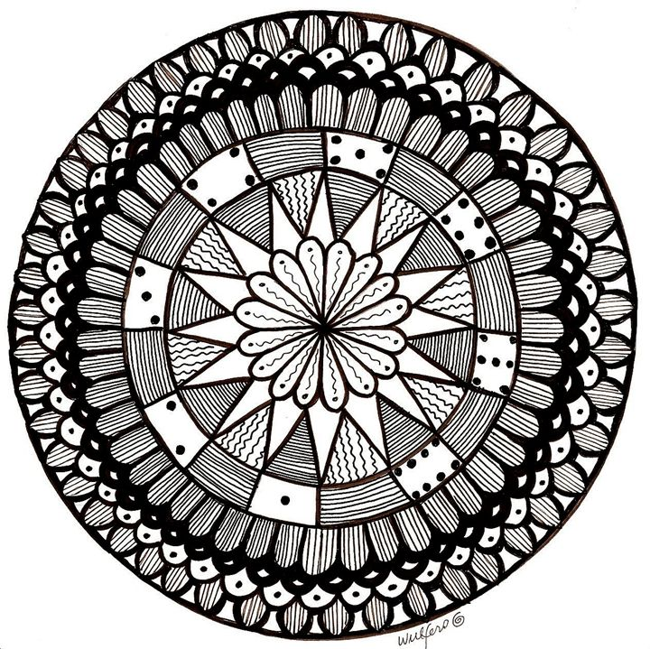 Dominoes Mandala - Earthworks Art Designs and Photography