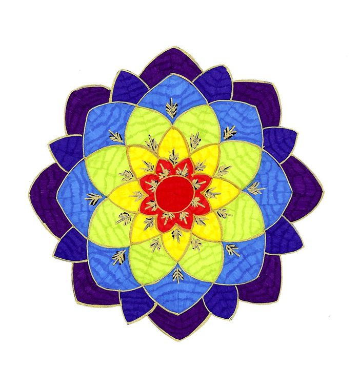 Spring Lotus Mandala - Earthworks Art Designs and Photography