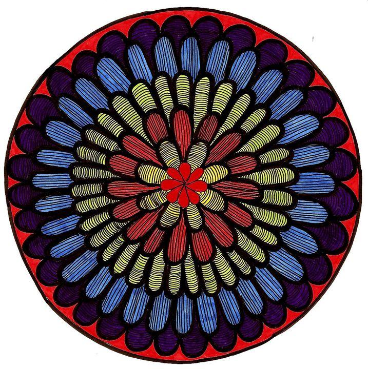 Dark Flower Mandala - Earthworks Art Designs and Photography