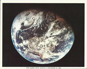 Earth from Apollo 8, December 1968