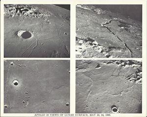 Apollo 10 Views of Lunar Surface