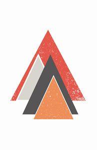 Orange Mountain Print