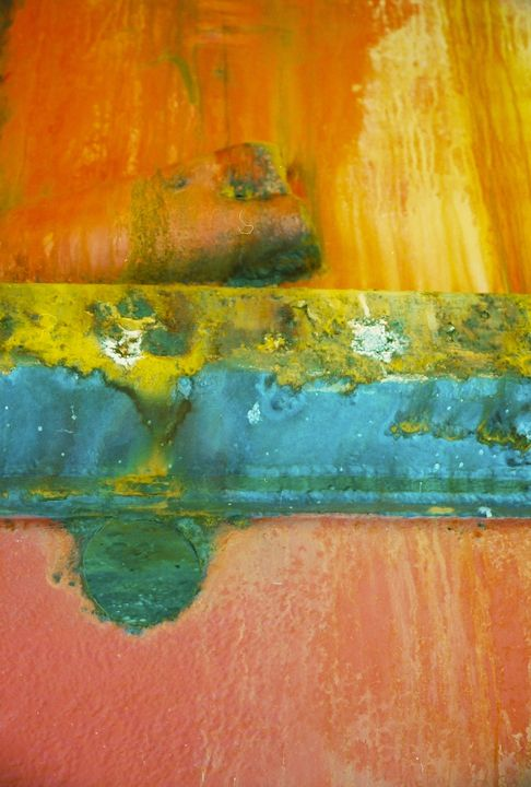 Abstract in orange and greens - Sue Rode Photography