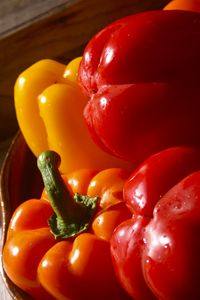 Warm, red  bell peppers