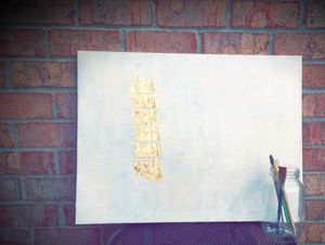 Gold leaf modern Abstract