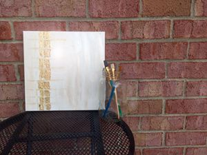 Contemporary Gold Leaf Abstract Art