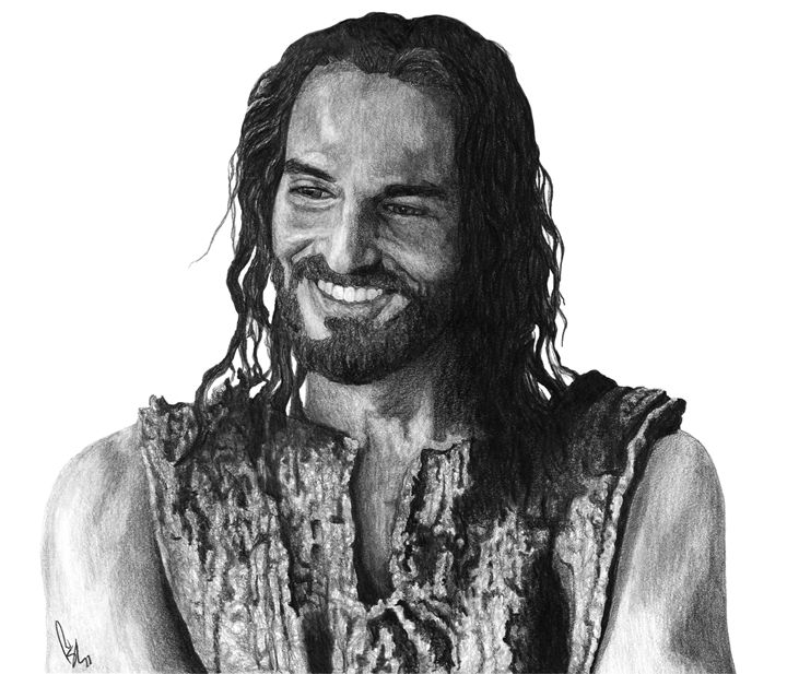 Jesus Smiling - Bobby Shaw Portrait Art