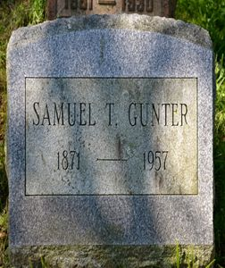 Samuel T Gunter Grave 1957