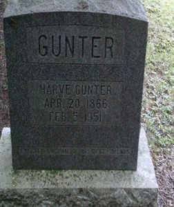 Harve Gunter Grave in Ontario Canada