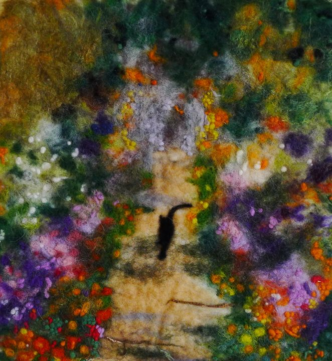 Cat in Monet's Garden - Susanne Weber