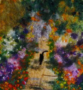 Cat in Monet's Garden