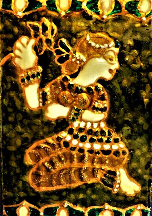 cardboard reversible pendant - indianArtOnCanvas