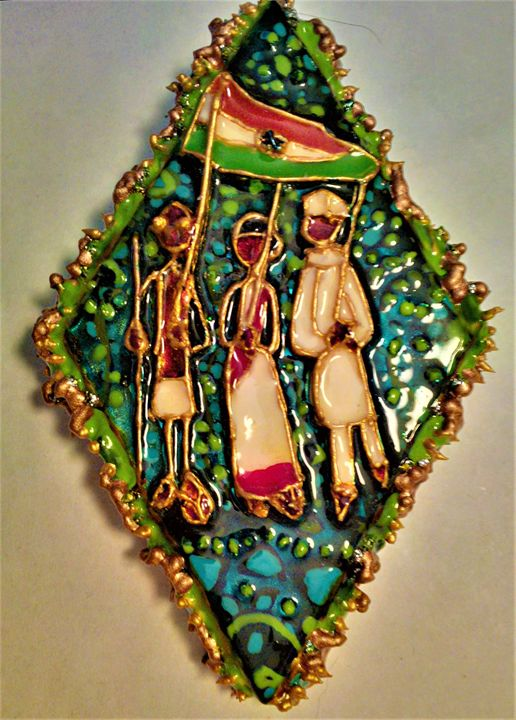 India Independence Day pendant - indianArtOnCanvas