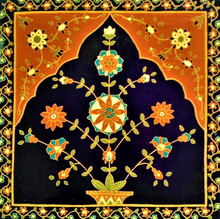 tree of life ceramic painting - indianArtOnCanvas
