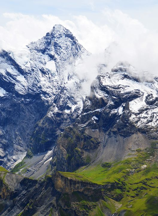 Mountainside in the Swiss alps - Helen A. Lisher