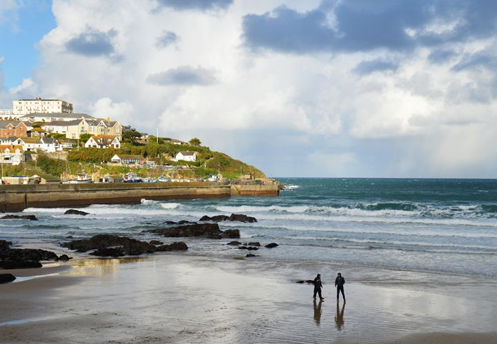 Winter morning in Newquay, Cornwall - Helen A. Lisher