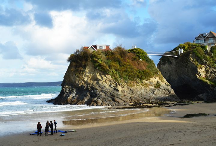 Newquay beach in Cornwall - Helen A. Lisher
