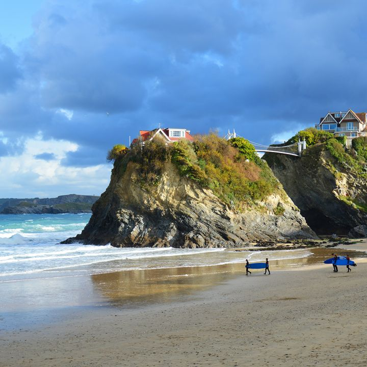 Surfers with boards, Newquay - Helen A. Lisher