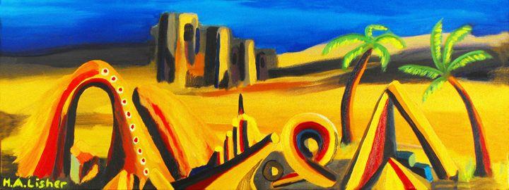 Nightfall in the desert - Helen A. Lisher