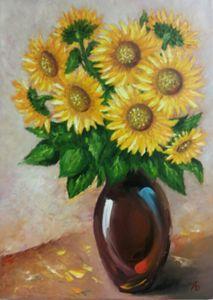 Summer romantic flowers. Sunflowers