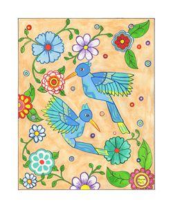 Playful Hummingbirds