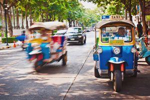 Street traffic in Bangkok