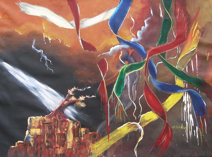 praying for rain - art paintings by miroslaw chelchowski