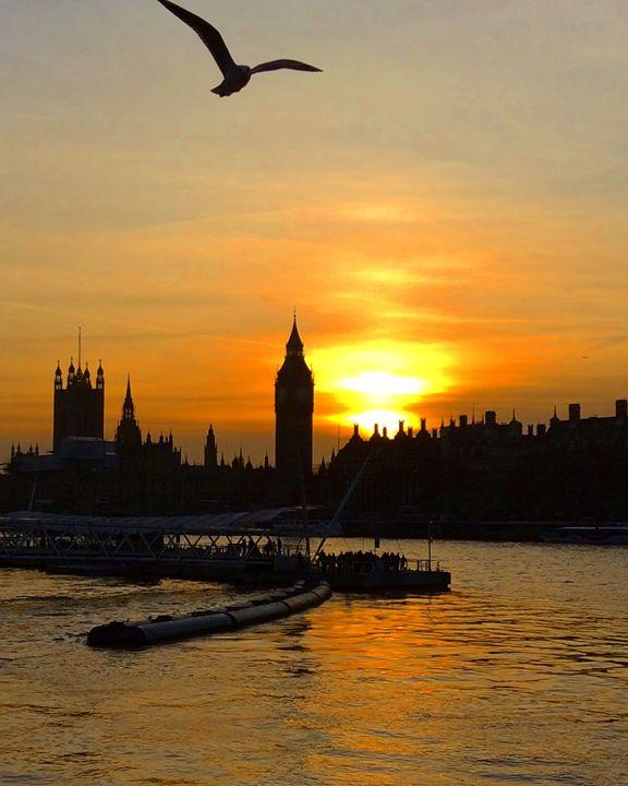 Golden Sunset on Big Ben - Sahar