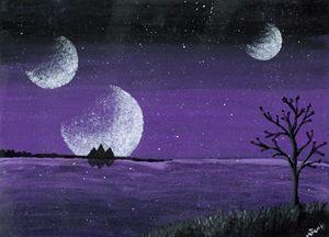 Alien Planet Purple