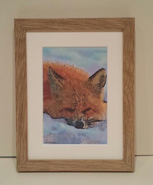 Fox Sleeping - artbyhew